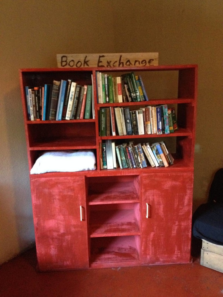 book exchange travel bacpacking